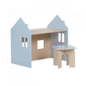 Alondra Conjunto Montessori Mesinha e Cadeira Azul U33MES-7751