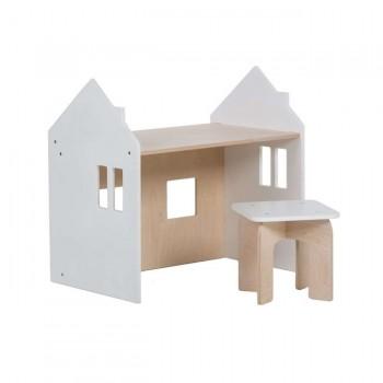 Alondra Conjunto Montessori Mesinha e Cadeira Branco U33MES-7700