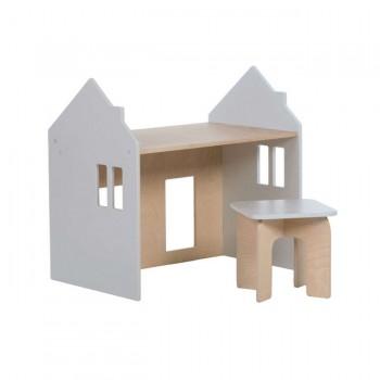 Alondra Conjunto Montessori Mesinha e Cadeira Cinza U33MES-7778