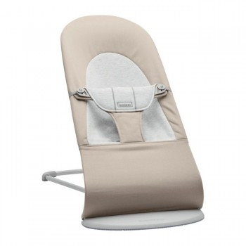 BabyBjörn Espreguiçadeira Balance Soft Algodão Bege/Cinza 005183