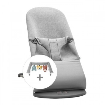 BabyBjörn Pack Espreguiçadeira Bliss 3D Jersey Cinza Claro 606072