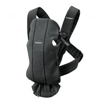 BabyBjörn Porta-Bebé Mini Cinza Carvão Jersey 3D 021076