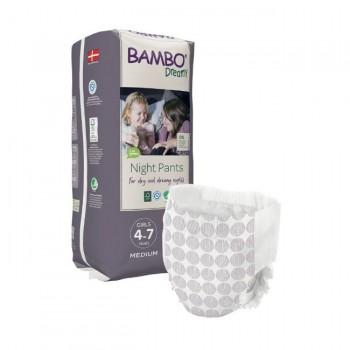 Bambo Nature Fraldas Cueca Dreamy Night 4-7 Anos Menina 10 Unidades