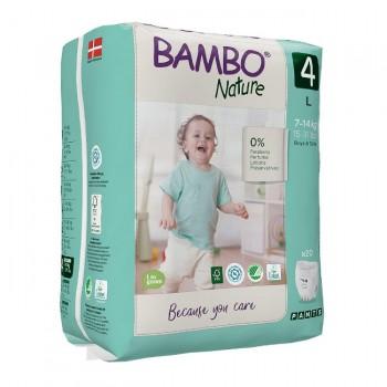 Bambo Nature Fralda Cueca de Treino Tamanho 4 L 7-14Kg 20 Unidades