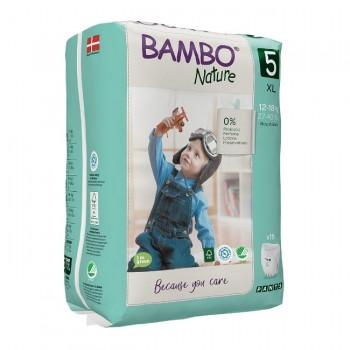 Bambo Nature Fralda Cueca de Treino Tamanho 5 XL 12-18Kg 19 Unidades