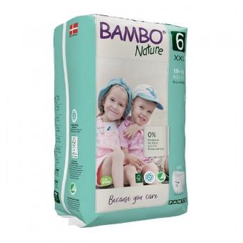 Bambo Nature Fralda Cueca de Treino Tamanho 6 XXL +16Kg 18 Unidades