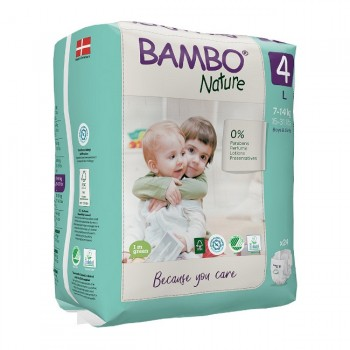 Bambo Nature Fraldas Tamanho 4 L 7-14Kg 24 Unidades