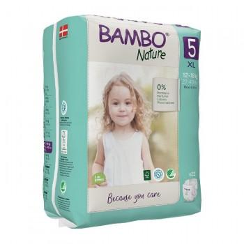 Bambo Nature Fraldas Tamanho 5 XL 12-18Kg 22 Unidades