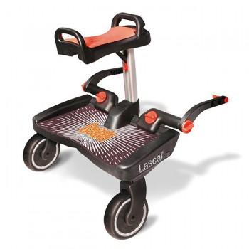Lascal Patim Buggy Board Maxi + Assento Preto/Vermelho 3454
