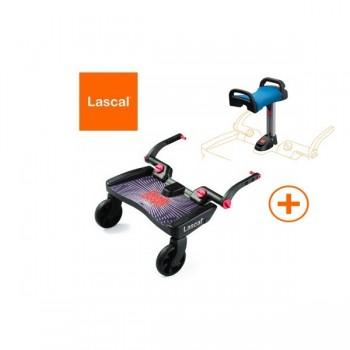 Plataforma BuggyBoard Maxi Preto + Assento Azul Lascal LAS2540