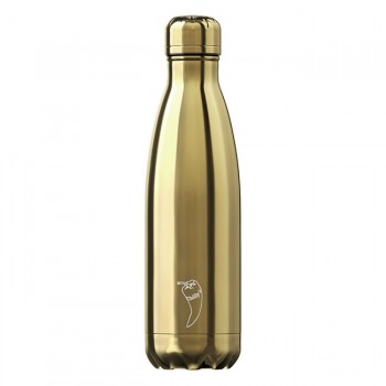CHILLY'S Garrafa Isotérmica 500ml Chrome Gold CB04CGLD