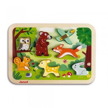 Janod Puzzle Animais da Floresta Chunky +18M J07023