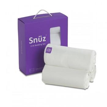 Conjunto de Berço Branco (2 Lençóis Ajustáveis + Manta Reversível) Snüz