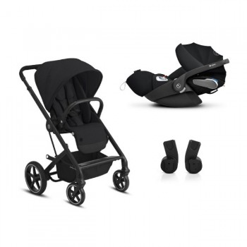 Cybex Duo BALIOS S LUX BLK + CLOUD Z I-SIZE + Adaptadores Deep Black