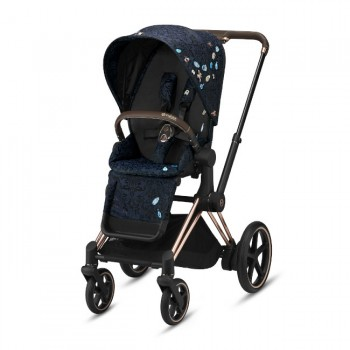 Cybex PRIAM Chassi Rose Gold + Seat Pack Jewels of Nature