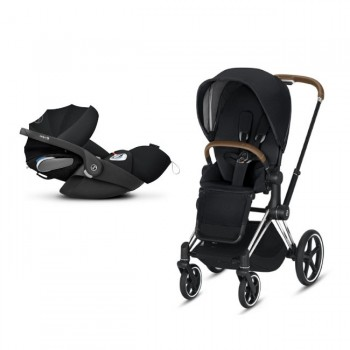 Cybex Duo PRIAM Chrome Brown + Seat Pack Black + CLOUD Z I-SIZE Black
