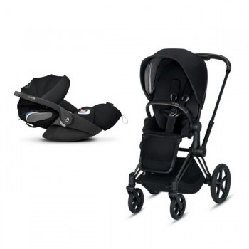 Cybex Duo PRIAM Matt Black + Seat Pack Black + CLOUD Z I-SIZE Black