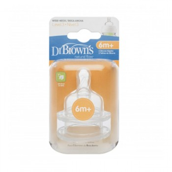 Dr. Brown's Tetina Options 6M Plus 2pk DRB-ACC03