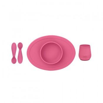 ezpz Primeiro Conjunto de Alimentação Rosa