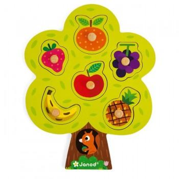 Janod Puzzle Árvore de Fruta em Madeira +6M J07061