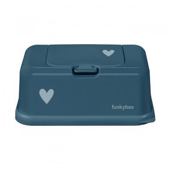 FunkyBox Caixa Toalhetes Coração Azul FB38