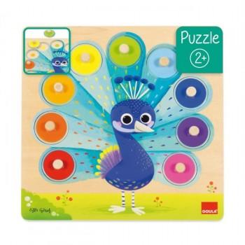 Goula Puzzle Pavão Real +24m 453060
