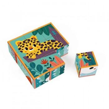 Janod 9 Cubos Animais Com 1 Caixa de Madeira +2 Anos J08624 (BL_Aprendizagem e Descoberta)Voltar Redefinir Remover Duplicar Guardar Guardar e Continuar Edição