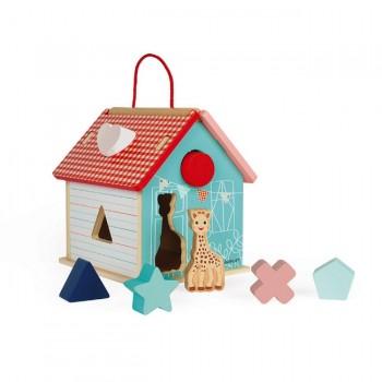 Janod Brinquedo Casa com Formas da Sophie La Girafe J09505
