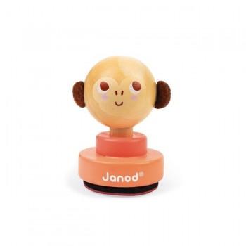 Janod Carimbo Macaco Rosa +2 Anos J04029