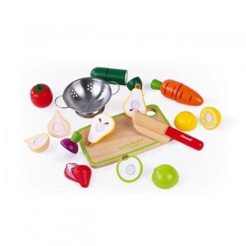 Janod Conjunto Maxi Frutas e Legumes Green Market +3 Anos J06607