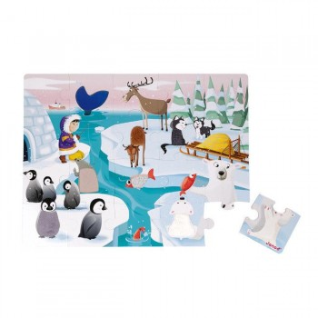 Janod Puzzle Tátil de 20 Peças A Vida no Gelo +24M J02773