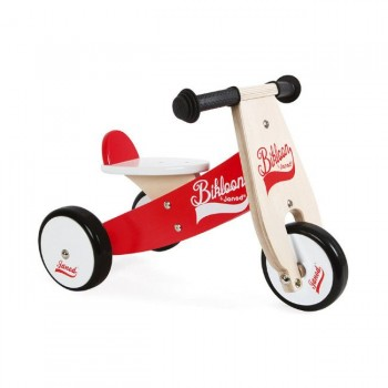 Janod Triciclo Bikloon Vermelho e Branco +12M J03261