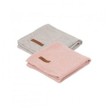 Little Dutch 2 Fraldas Musselina 70x70 Pure Pink/Grey TE50330153