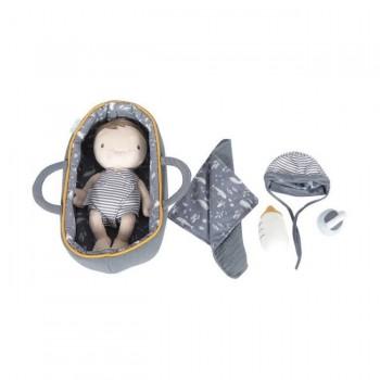 Little Dutch Boneco Baby Jim com Alcofa e Acessórios +12M LD4529