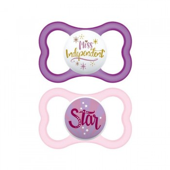 MAM 2 Chupetas Air Silicone 16+ Miss Independent S235