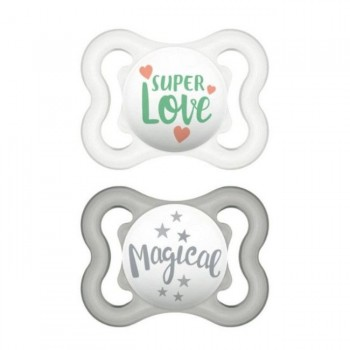 MAM 2 Chupetas Air Silicone Happy Thoughts Verde +0M S116