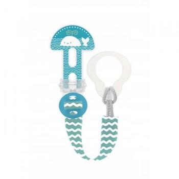 MAM Prende-Chupeta Clip It! Baleia Azul S178