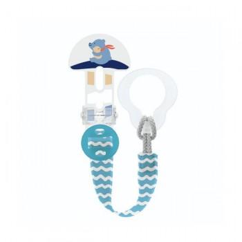MAM Prende-Chupeta Clip It! & Cover Ursinho Azul S178