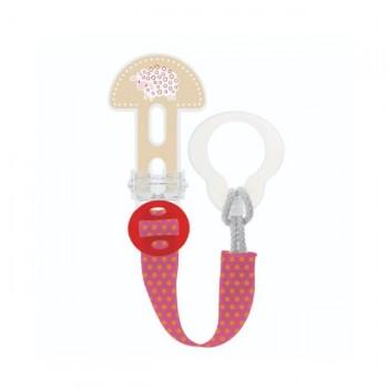 MAM Prende-Chupeta Clip It! Ovelha Vermelho S179