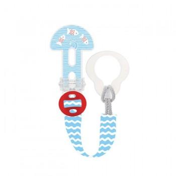 MAM Prende-Chupeta Clip It! Peixinhos Azul S180