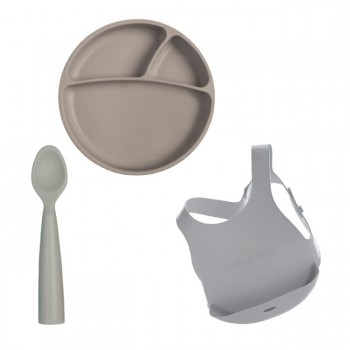 Minikoioi Conjunto de Alimentação Cinza 261101070008
