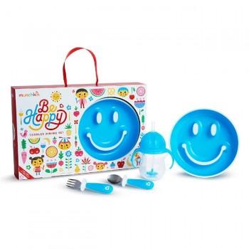 Munchkin Conjunto de Refeição Be Happy Azul 051873