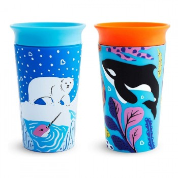 Munchkin 2 Copos Miracle 360 WildLove Orca/Urso Polar 266ml 051766