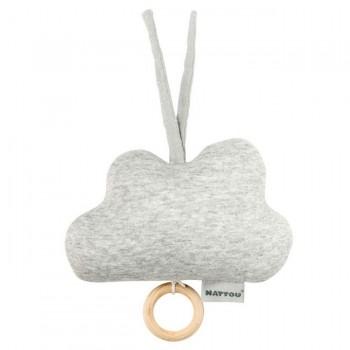 Nattou Pure Cotton Caixa de Música Nuvem Cinza 11998253