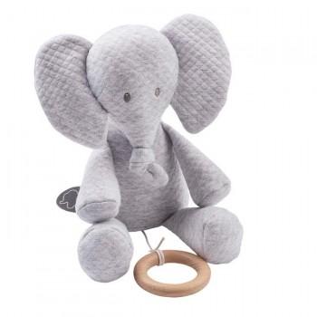 Nattou Tembo Caixa de Música Jacquard Elefante 11929370