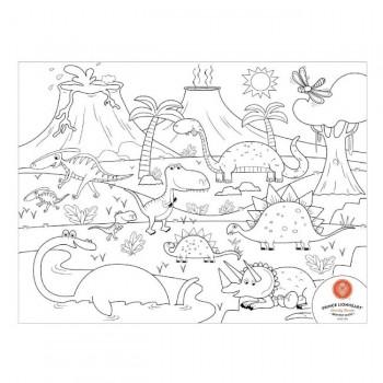 Prince Lionheart Tapete Colorir e Desenhar em Silicone Dino 0405