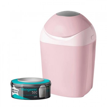 Tommee Tippee Contentor Fraldas Rosa Sangenic Tec