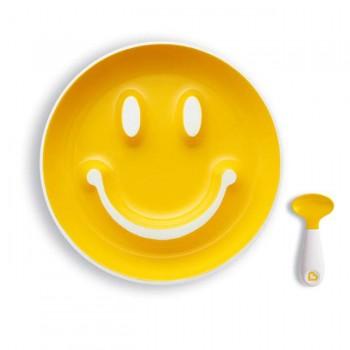 Munchkin Prato c/ Sucção e Colher Smile n' Scoop Amarelo 012449
