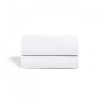 Snüz 2 Lençóis Ajustáveis Berço Brancos BD028BL