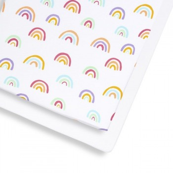 Snüz 2 Lençóis Ajustáveis Cama de Grades Colour Rainbow BD028CJ